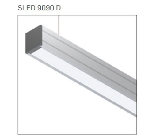 Pendente/Perfil Minimalista Sistema de Iluminação Linear P10 7,2W/M 12 Vdc 1MT Misterled SLED9090 P10 D