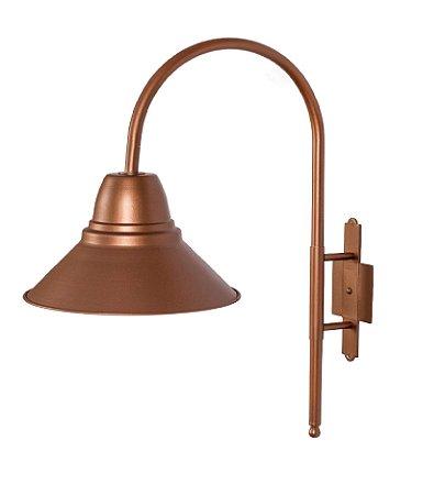 Luminária de Jardim Metal 26x46x49cm 1xE27 Led Cor Cobre Foco Metallo J 002/26