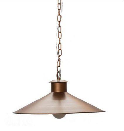 Pendente Único Montado Metal 37x18cm 1xE27 Cor Oxidado Foco Metallo PE 508/37