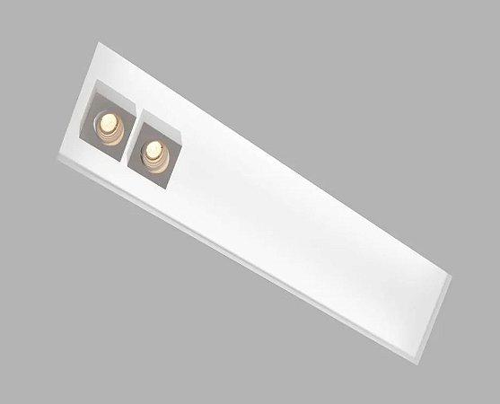 Embutido Box 325x650x100mm 4xT8 60cm + 2GU10 MR16 Cor Branco Texturizado Usina 30327/65F