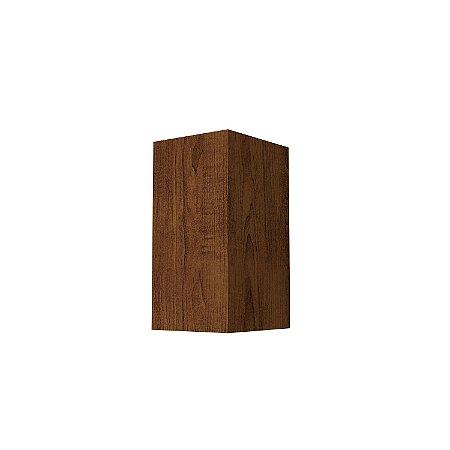 Arandela Retangular Slim 7,5x15x8,5 Madeira 1xG9 Cor 06 Imbuia Accord 4025