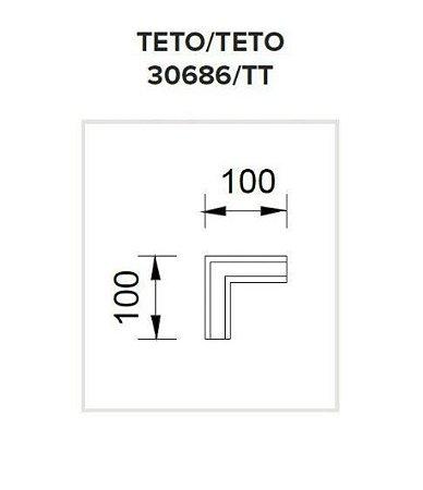 Junção Teto/Teto Sistema de Embutir Linear Wood 100x100mm Usina 30686/TT