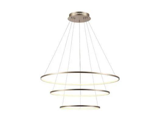 Pendente Birdie  80cmx42cm LED integrado 39W 3200K Bivolt  Bivolt Dourado/ Branco Bella Iluminação  KW002G