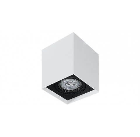 Plafon de Sobrepor em Aluminio Quadrado 1xMR16  7,5x7,5x10cm Impacto M10