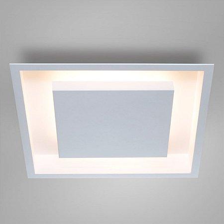 Painel Embutir Eclipse Quadrado Alumínio 50x50x7,8cm 4xE27 Itamonte Nac 2041/50 E27