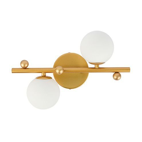 Arandela Júpiter Metal e Vidro 24x35cm 2xG9 Bivolt Cor Dourada Arquitetizze AR10212-2.000