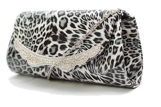 ad2e4d3c0 Bolsa Clutch Carteira de Mão Animal Print Tigresa - E-shoppingcenter
