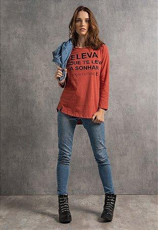 T-Shirt Eleva Oversized Terra