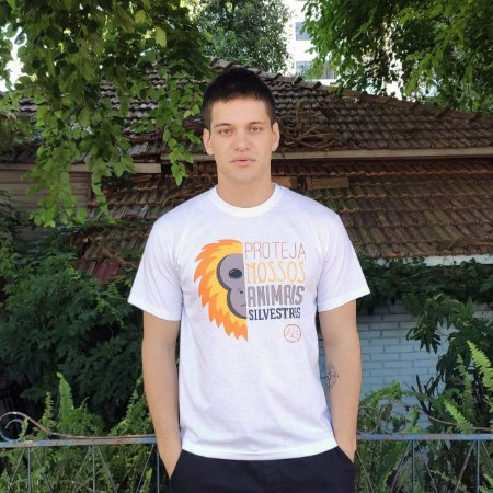 """Camiseta """"Proteja nossos animais silvestres"""""""