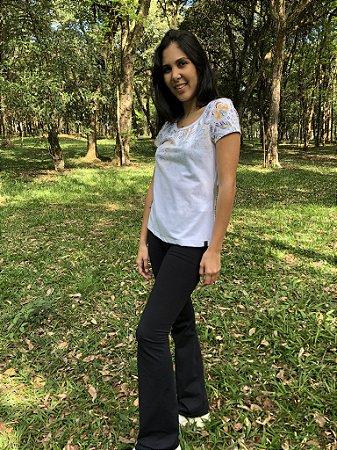 Camiseta Feminina - Branca Degradê