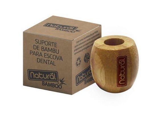 Suporte de bambu para Escova Dental