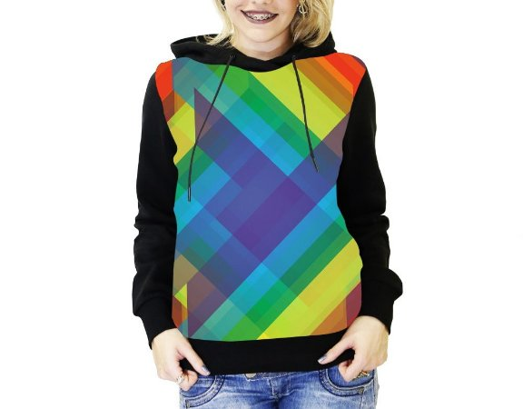 be6ae40cd6 Blusa De Frio Full Estampado LGBT Moletom Feminino