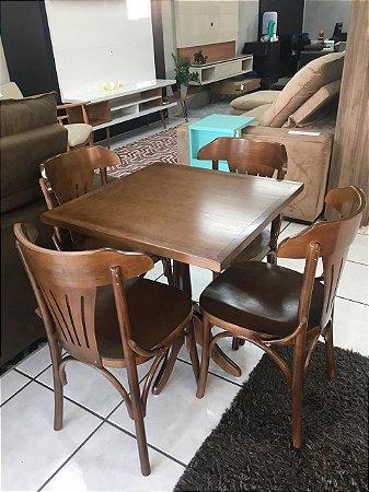 Conjunto Mesa Rústica + 4 cadeiras
