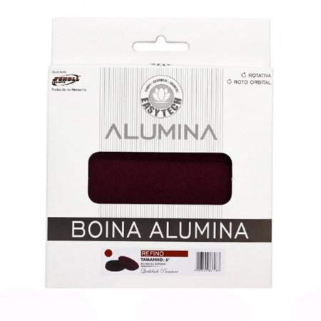 """Boina de Espuma Easytech Alumina 6"""" Média Bordô 165mm"""