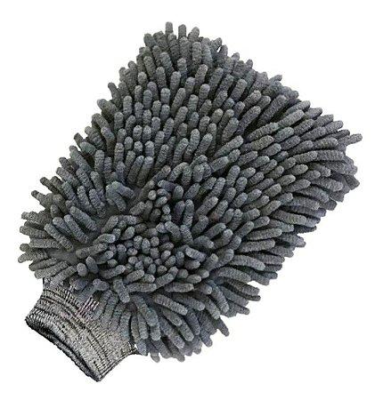 Luva de Microfibra Cinza Chenille Para Lavagem - Detailer