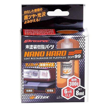 Nano Hard Coat Restaurador de Plásticos 1 ano 8ml - Soft99