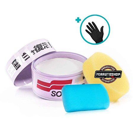 Cera De Espelhamento Cores Claras White Cleaner 350g + Clay Bar Smooth Egg 50g - Soft99