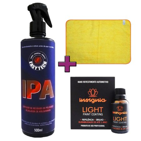 Kit Vitrificação de Pintura Automotiva Light 20ml - Easytech