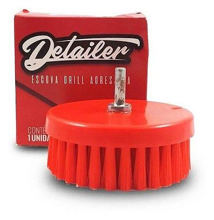 Escova para Limpeza de Estofados Agressiva - Politriz e Furadeira + Adaptador