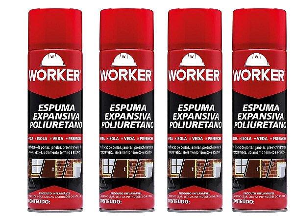 12 latas de Espuma Expansiva Poliuretano 290ml/284g - Worker