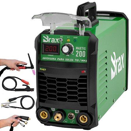 Inversora De Solda Tig Com Tocha 200 Amp Bivolt Max200