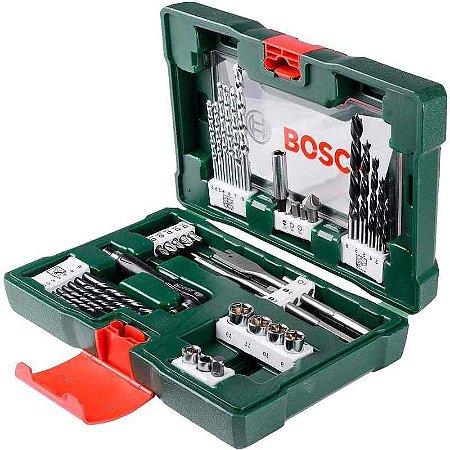 Jogo De Brocas, Bits E Soquete Com 91 Peças V-line - Bosch