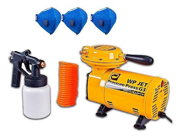 Compressor Ar Direto Com Acessórios Pintura Jet Press G3