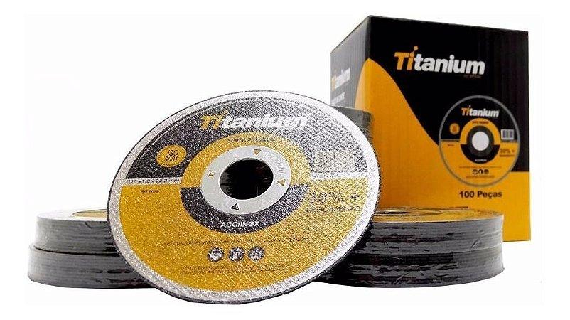 Disco Corte Super Premium 4.1/2 X 1,0  Titanium 100 Peças
