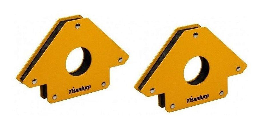 4 Esquadros Magnético 35kg Para Solda Titanium Serralheiro