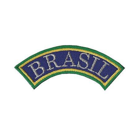 Patch Bordado Termocolante Tarjeta Brasil