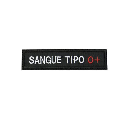 Patch Bordado Tipo Sanguíneo O+ 1.341.114V