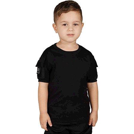 Camiseta T Shirt Ranger Infantil Preta Bélica