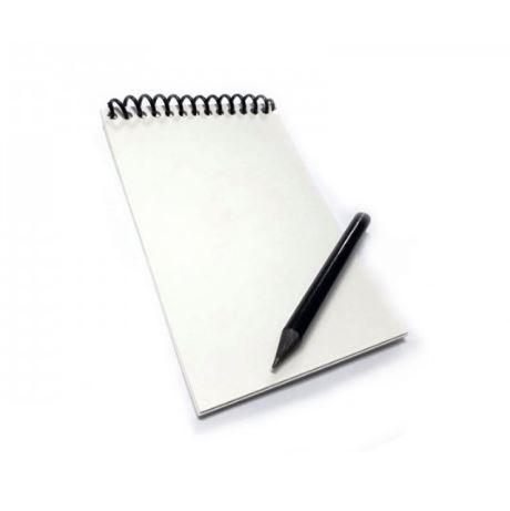 Caderneta Impermeável 5 folhas com Lápis