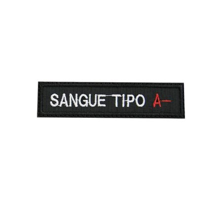 Patch Bordado Tipo Sanguíneo A-  1.341107V