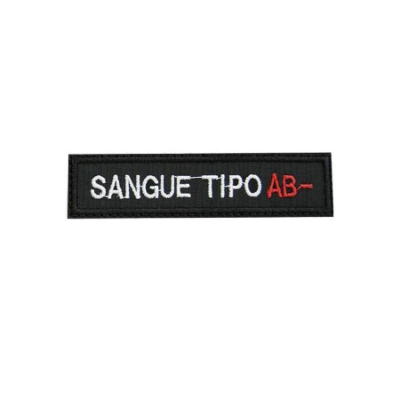 Patch Bordado Tipo Sanguíneo AB-  1.341.113V