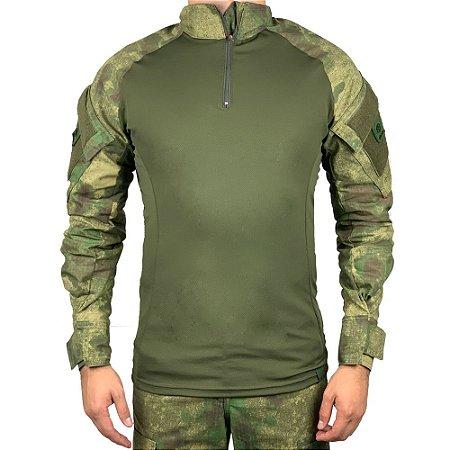 Combat Shirt Camuflado A-tacs FG Bélica-Promoção