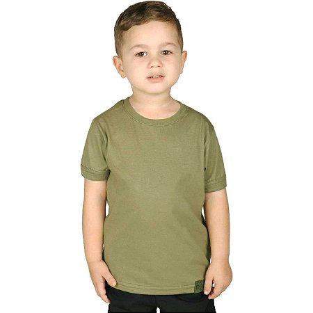 Camiseta Soldier Infantil Verde Claro Bélica-Promoção