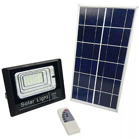 Kit Energia Solar Completo Placa + Refletor Led + Controle