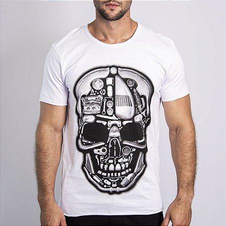 """Camiseta """"Caveira Mecânica"""" - SKULLER"""