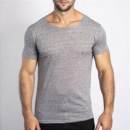 Camiseta Corte a Fio Bonete Cinza Claro - SOHO