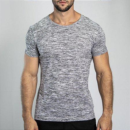 Camiseta Grecia Maquinetado Cinza - SOHO