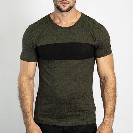 Camiseta Manga Curta Grecia Maquinetado Militar - SOHO