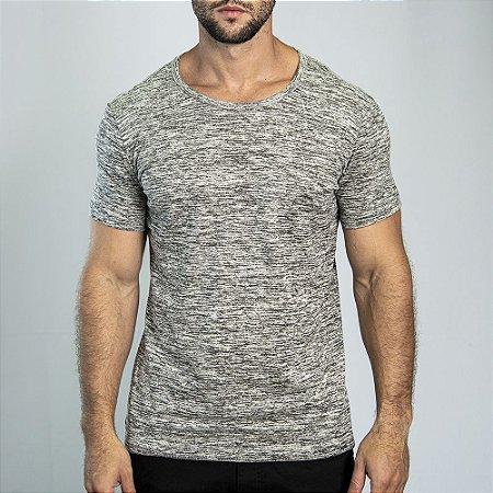 Camiseta Grecia Maquinetado Marfim - SOHO