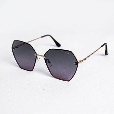 Óculos de Sol Feminino Hexagonal Lente Degradê - Sowt
