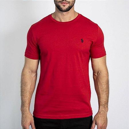 Camiseta Custom Fit Vermelha - Ralph Lauren