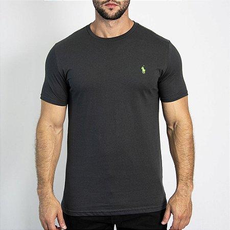 Camiseta Custom Fit Chumbo - Ralph Lauren