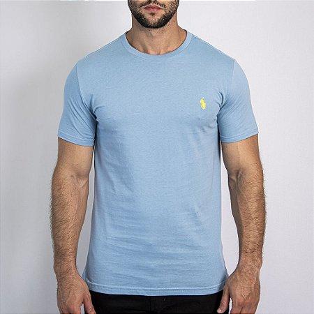 Camiseta Custom Fit Azul - Ralph Lauren