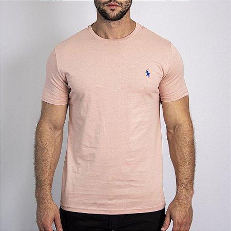 Camiseta Custom Fit Rosa - Ralph Lauren