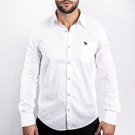 Camisa Branca Custom Fit - Abercrombie