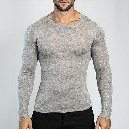 Suéter Slim Fit Man - Cinza